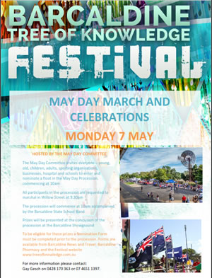 Barcaldine Tree of Knowledge Festival May Day Parade poster